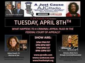 AJCRadio Upcoming Show - Sidney Powell - Nick Yarris
